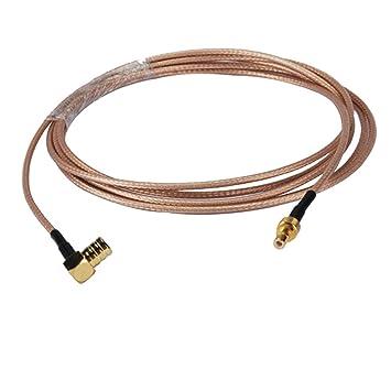 PC-Case 0.5 ft RF Cable eléctrico Conector Smb macho ángulo recto a hembra recto cable coaxial de extensión montaje RG316 15 cm para Inalámbrico antena: ...
