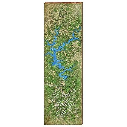 Amazon.com: MILL WOOD ART Dale Hollow Lake Map Home Decor Art Print on
