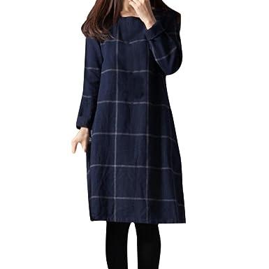 Amazon.com: jushye para mujer vestido suelto, Ladies Vintage ...