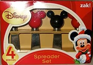 Disney Mickey Mouse Head Spreader Set - 2 red - 2 black Mickey Head shape by ZAK!