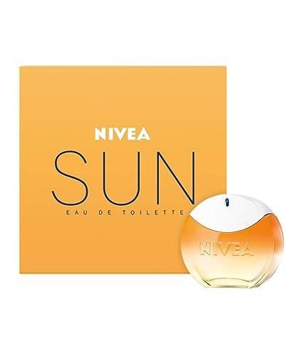 NIVEA SUN Eau de Toilette (1 x 30 ml) con el original aroma de la crema solar NIVEA SUN, perfume para mujer en un icónico frasco de perfume, sensual ...