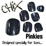 Chix Nails Nail Wraps PINKIES Charcoal Glitter JUST FOR TOES Toes Vinyl Foils Minx Trendy Style SALON