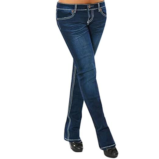 Amazon.com: Dingji Womens Straight Jeans, Elegent Zipper ...