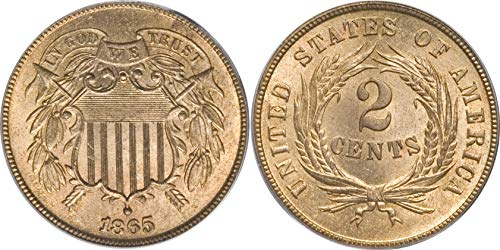1865 U.S. Civil War Era Two-Cent Piece ()