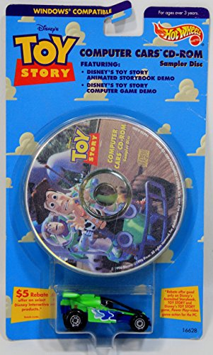 DISNEY'S TOY STORY HOT WHEELS COMPUTER CARS CD-ROM SAMPLER DISC