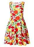 Leapparel Girl's Red Watermelon Print Sundress Sleeveless Holiday Dress for 4-5 Years Old Girls