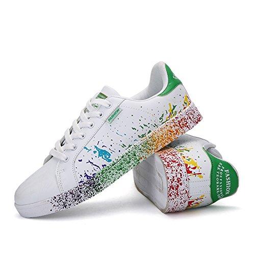 Donna Basse Scarpe Foundation Ginnastica Uomo Sneakers Running da Tennis JEDVOO verde Scarpe TAwq5fY