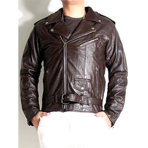 f293b4c06a7b 本革 ライダースジャケット ダブル メンズ レザージャケット リアルレザー アウター 革ジャン ダブル 低コスト