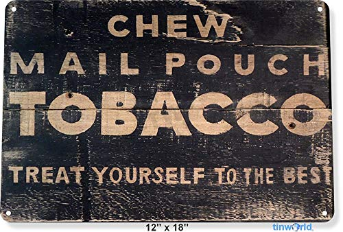 NGFD TIN Sign 8x12 inch Mail Pouch Tobacco Metal Decor Wall Art Smoke Store Shop Pub Bar Tinworld A997