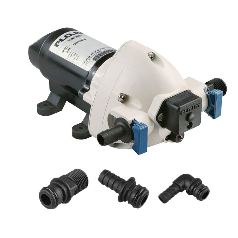 BTK - Bomba autoclave para agua Flojet Triplex de 24 V, 11 litros por minuto, automática eléctrica con presostato de bajo consumo, barco, náutica, caravana