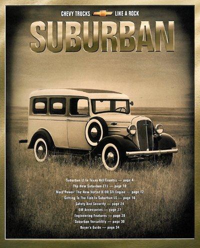 2001 Chevrolet Chevy Suburban Truck Sales Brochure