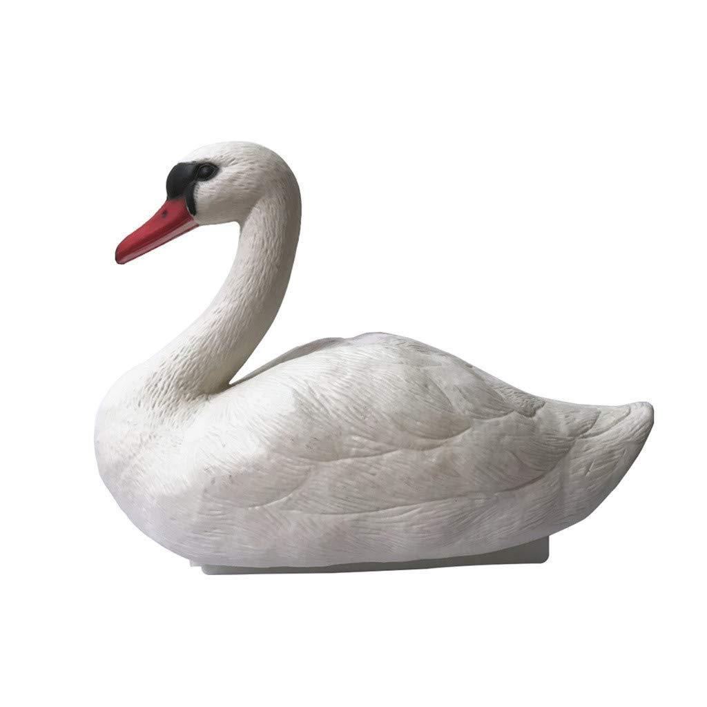 ❤️Byedog❤1Piece Hunting White Bait Garden Plastic Pond Goose Decor White Swan Pet by Byedog_❤️Furnitures