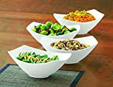 Over-and-Back 4-Piece Porcelain Serving Bowl Set (4 Bowls)