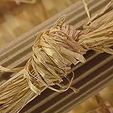 Raffia Grass - Premium Real Natural Raffia From Madagascar Raffia Palms- 8 ounces (Natural)