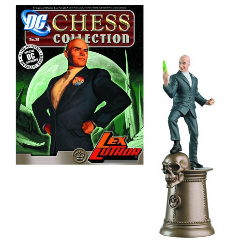 DC Superhero Lex Luthor Black King Chess Piece and Magazine -  Eaglemoss Publications, APR131389