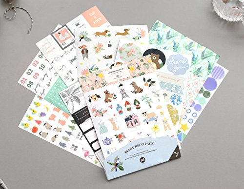Iconic Diary Deco Pack - Decoration Stickers Pack - Cards Gift Online Australia