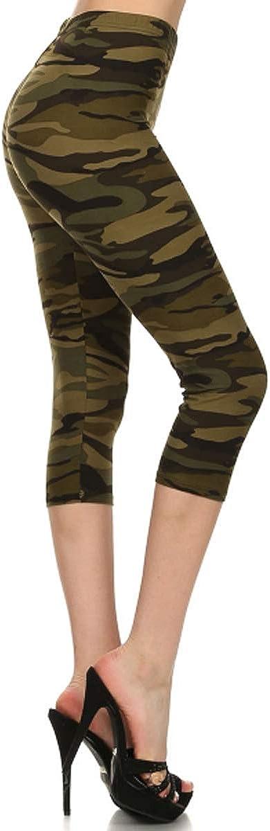 Leggings Depot Capri REG//Plus Fashion Print Leggings Capri BAT1