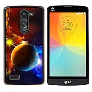 Jordan Colourful Shop - Planets Galaxy Gas Clouds Star Sun Blue Yellow For LG L Bello L Prime D337 Personalizado negro cubierta de la caja de pl????stico