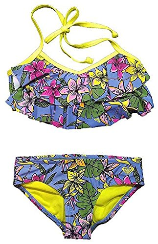 Roxy Girls' 2-piece Swim Set (14, Hot Tropics) -