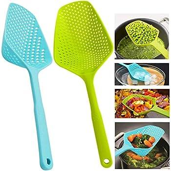 iTimo 1Pcs Scoop Colander Plastic Strainer Gadget Kitchen Accessories Drain Veggies Water Scoop Colander Spoon Kitchen Tools
