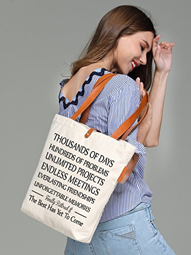 So'each Women's Best Has Yet To Come Top Handle Canvas Tote Shoulder Bag