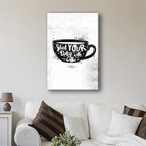 Vintage Style Cofee Art Start Your Day with Coffee