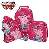 Original Peppa Pig Patchwork Luggage Set (Pink) (Same Day Dispatch)