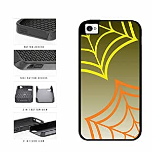Yellow and Orange Spiderwebs 2-Piece Dual Layer Phone Case Back Cover iPhone 4 4s
