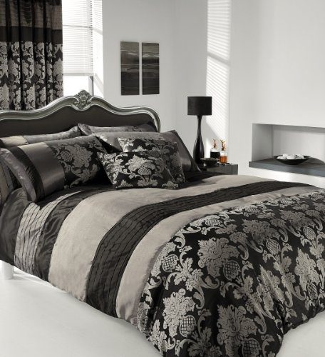 Apachi Double Size Duvet Cover Bedding Set Silver Black Amazon