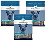 (3 Pack) Barkworthies All Natural Kangaroo Jerky Dog Chews – 4 Ounces Each