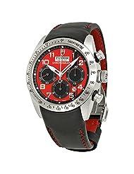 Tudor Fastrider Ducati Chronograph Black Leather Mens Watch 42000D-DUC