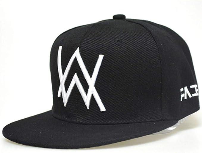 WYKDA M/áscara como Regalo Negro Alan Walker Gorra de b/éisbol Snapback Hip Hop DJ MC Rapper Bboy Bailarina Bordado Ajustable Hombres Mujeres Sun Cap