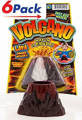 Erupting Volcano Science (Pack of 6) by JA-RU | Educational Toys Science Experiments | Item -