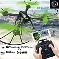 Lookatool JJRC H98WH RC Quadcopter WIFI FPV 2.4Ghz 4CH 6-axis Drone HD Camera Black