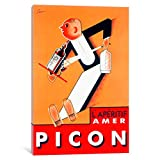 iCanvasART VAC51-1PC6-18x12 Amer Picon Canvas Print by Vintage Apple Collection, 18 by 12-Inch, 1.5-Inch Deep