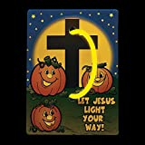 Christian Pumpkin Glow Bracelets with Card