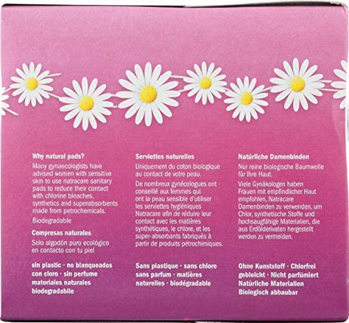 Natracare Ultra Extra Pads Normal, Paquete de 6: Amazon.es: Salud y cuidado personal