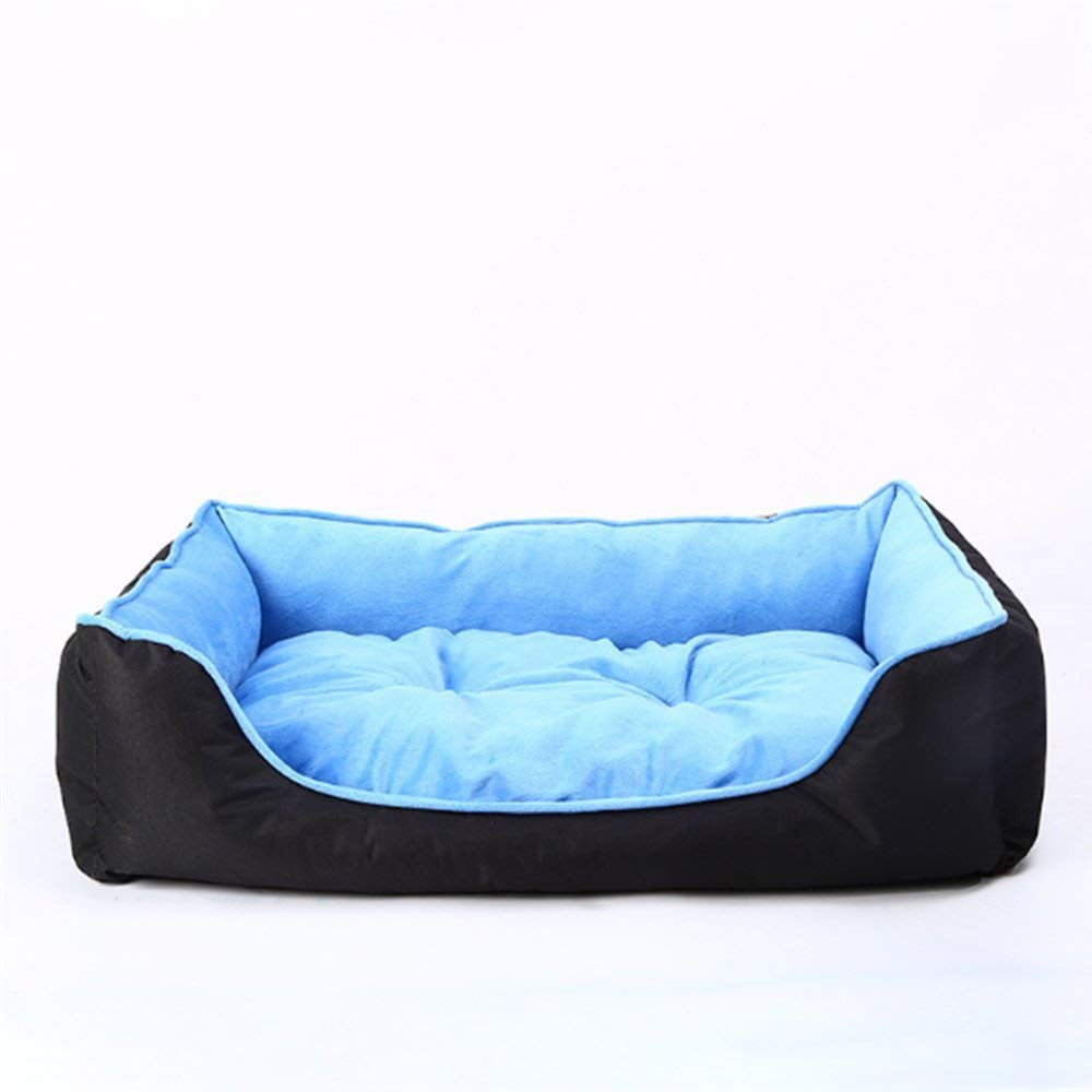 F MediumGperw Pet Mat Super Soft short Plush dog Mattress PVC Oxford Cloth Non Slip Cushion Pad (color   A, Size   Large)