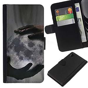 All Phone Most Case / Oferta Especial Cáscara Funda de cuero Monedero Cubierta de proteccion Caso / Wallet Case for Sony Xperia Z2 D6502 // Deep Meaning God Creator Night