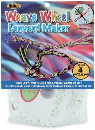 Toner Plastics Weave Wheel 4-Pack Lanyard (Plastic Friendship Bracelets)