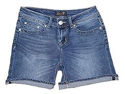 Seven 7 Women\'s Denim Shorts (8, Hermosa Blue)