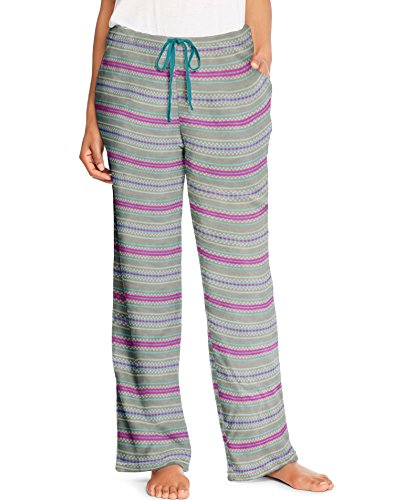 Hanes Womens Micropolar Fleece Lounge Pants, L, Cool Stripe