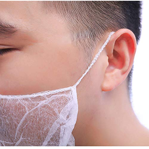 OKIl 100Pcs Disposable Beard Mask Snood Cover Catering Food Safe Beard Mask by OKIl-Tools548 (Image #7)