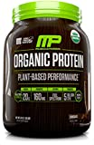MusclePharm Plant Based Protein Powder, Certified USDA Organic, All Natural, Probiotics, Gluten Free, Non GMO, BCAA's, Chocolate, 30 servings