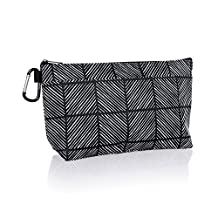 Thirty One Cool Clip Thermal Pouch in Chevron Squares - No Monogram - 8256