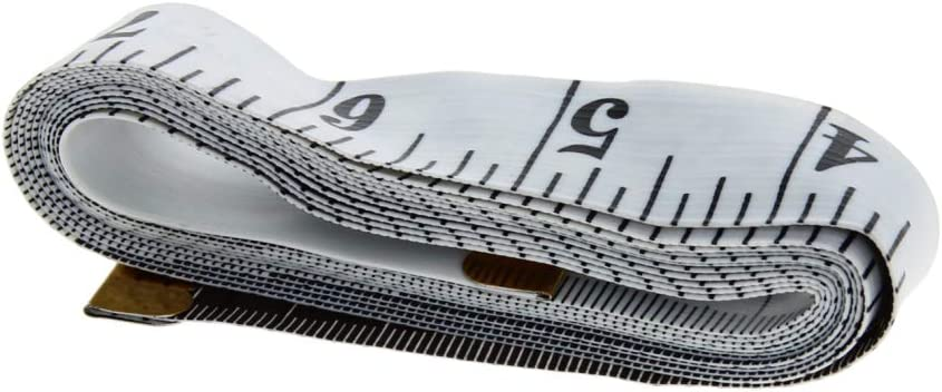 Utoolmart 2m Soft Tape Measure Fiberglass Sewing Tailor Cloth Flexible Ruler Body Measuring Ruler Weight Loss Measurement 2pcs