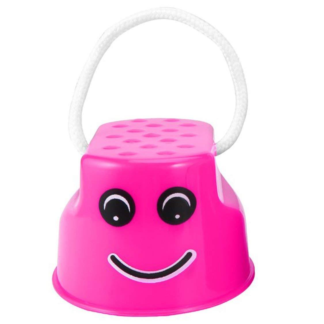 vige Lustige Plastikkinder scherzt im Freienspaß-Weg-Stelzensprung-Lächeln-Gesichts-Muster-Sport-Balance-Trainings-Spielzeug