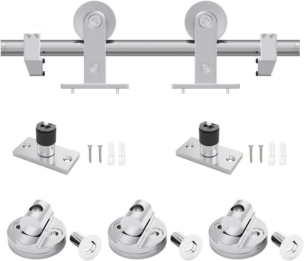 Single Rail Top Mount WINSOON 6.6FT Sliding Barn Door Hardware Kit Stainless Steel Easy to Install Fit Max 39.6 Door Super Smoothl and Quietl