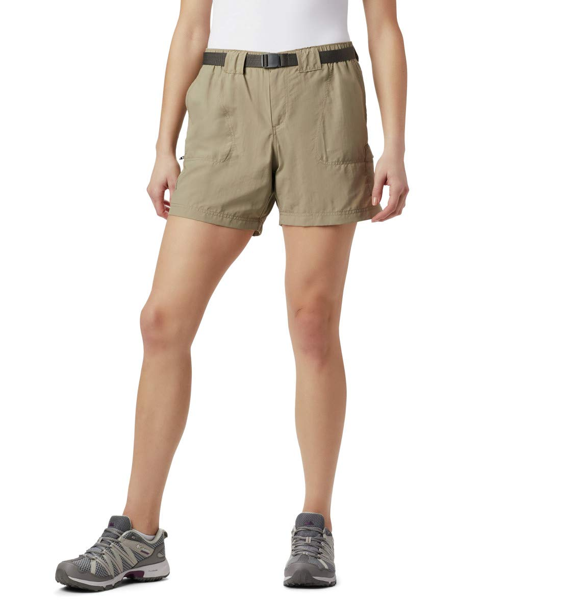 Columbia Women's Sandy River Cargo Short, Tusk, X-Small by Columbia