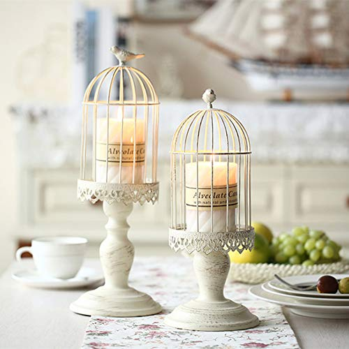 - Birdcage Candle Holder, Vintage Candle Stick Holders, Wedding Candle Centerpieces for Tables, Iron Candlestick Holder Home Decor (Candle Holder 2#)
